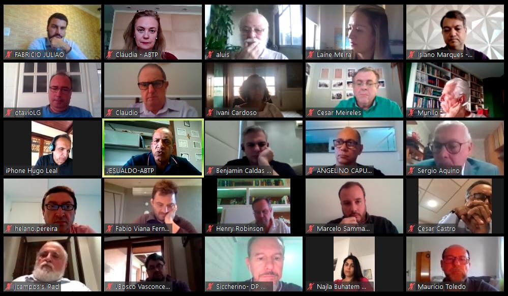 Reunião por videoconferência com o deputado Hugo Leal